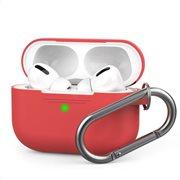Θήκη Σιλικόνης AhaStyle PT-P1 Apple AirPods Pro Premium με Γάντζο Κόκκινο