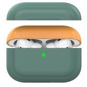 Θήκη Σιλικόνης AhaStyle PT-P2 Apple AirPods Pro DuoTone Σκούρο Πράσινο-Πορτοκαλί