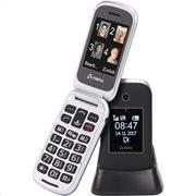 Olympia JANUS GR Μαύρο (Ελ. Μενού) Κινητό τηλέφωνο για ηλικιωμένους με κουμπί SOS, BT και 2 οθόνες