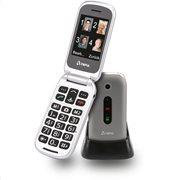 Olympia MIRA GR Ασημί (Ελ. Μενού) Κινητό τηλέφωνο για ηλικιωμένους με κουμπί SOS, BT, κάμερα με φλας