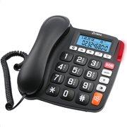 Olympia 4520 Τηλέφωνο με φωτ. οθόνη, μεγάλα πλήκτρα, συμβ. με ακουστικά βαρηκοΐας, αν. ακρόαση, SOS