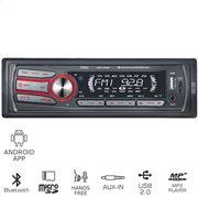 OSIO ACO-4520UBT Ραδιόφωνο USB αυτοκινήτου με Bluetooth, Android app, Micro SD και Aux-In
