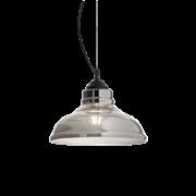 Ideal Lux Κρεμαστό Φωτιστικό Οροφής Μονόφωτο BISTRO' SP1 PLATE FUME' 112343