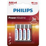 Philips LR03P4B/GRS Power Alkaline Αλκαλικές μπαταρίες υψηλής απόδοσης 4 τμχ AAA