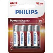Philips LR6P4B/GRS Power Alkaline Αλκαλικές μπαταρίες υψηλής απόδοσης 4 τμχ AA