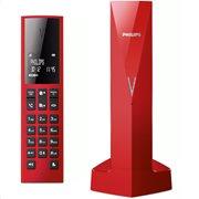 Philips M3501R/GRS (Ελ. Μενού) Ασύρματο τηλέφωνο με αν. ακρόαση, φωτ. οθόνη, φραγή κλήσεων micro-USB