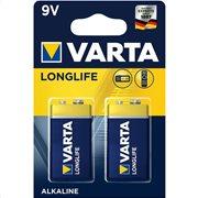 VARTA LONGLIFE 9VOLT PROMO BLISTERx2pcs