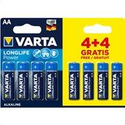 VARTA LONGLIFE POWER AA 4+4pcs