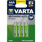 VARTA RECHARGEABLE AAA 800mAh BLx(3+1)