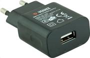 Yenkee Αντάπτορας Πρίζας Ταξιδιού USB 1000 mAh Μαύρο YAC 2003BK