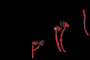 Yenkee Ακουστικά Handsfree Flat Κόκκινο YHP 105 RD