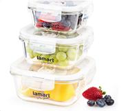 Lamart lt6012 σετ 3 γυάλινα δοχεία φαγητό