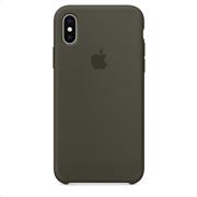 Apple Silicone Case iPhone X Dark Olive