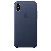 Apple Leather Case iPhone X Midnight Blue