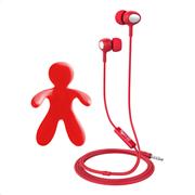 Celly Car Freshner Bundle & Stereo Earphones Red