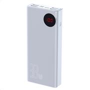 Baseus Powerbank PD+QC 30000mAh 4xUSB/Type-C/Lightning Digital Display 33W White