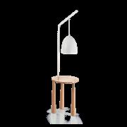 Ideal Lux Φωτιστικό Δαπέδου - Ορθοστάτης Μονόφωτο PIANO PT1 BIANCO 138282