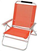 Campus Καρέκλα Παραλίας Αλουμινίου 3 θέσεων, Πορτοκαλί