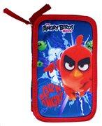 Angry Birds Κασετίνα Σκληρή Διπλή Γεμάτη για αγόρια Paxos 163621