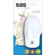 SAS Φωτάκι νυκτός LED με αισθητήρα φωτός.  SAS 100-15-136