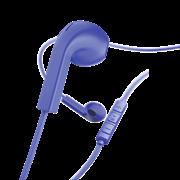 "Hama ""Advance"" Ακουστικά, in-ear με επίπεδο καλώδιο , μπλέ"