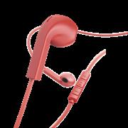 "Hama ""Advance"" Ακουστικά, in-ear με επίπεδο καλώδιο , κόκκινα"