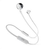JBL In-Ear Bluetooth ακουστικά EarBuds Tune 205 (Silver)