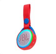 JBL JR POP, portable wireless speaker with light (red)