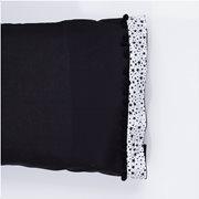 White Fabric Σετ Μαξιλαροθήκες Stars Μαύρες