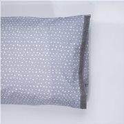 White Fabric Σετ Μαξιλαροθήκες Dottie Γκρι