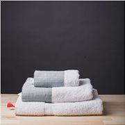 White Fabric Σετ Πετσέτες Gingham Πράσινο
