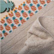 White Fabric Πετσέτα Pineapple Εκρου Προσώπου