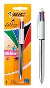 BIC στυλό διαρκείας 4 Colours με μύτη 1mm ασημί
