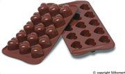 Silikomart Φόρμα Σιλικόνης για 15 Σοκολατάκια Καρδιές 30x22εcm.