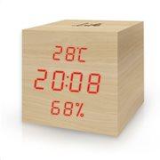 Life Ξύλινο ψηφιακό θερμόμετρο/υγρόμετρο εσωτερικού χώρου WES-105