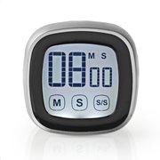 NEDIS Ψηφιακό χρονόμετρο κουζίνας με οθόνη αφής, KATR104BK