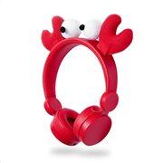 NEDIS On-ear ενσύρματα ακουστικά NEDIS Animaticks Chrissy Crab, HPWD4000RD