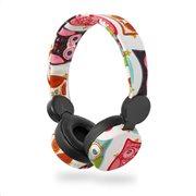 NEDIS On-ear ενσύρματα ακουστικά NEDIS N-imal Owl White, HPWD4102BK