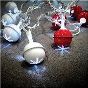 Joylight  σετ 10l led μπαλες  λευκο&κοκκινο