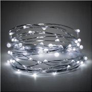 Joylight  30leds συρμα ασημι με ψυχρο λευκο  φως