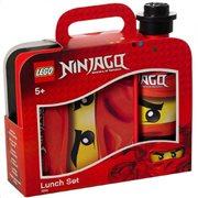 LEGO Ninjago Παιδικό δοχείο φαγητού Lunch Set Bright Red