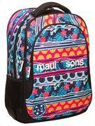 Maui & Sons Σχολική Τσάντα Πλάτης Γυμνασίου-Λυκείου Οβάλ Polka GIM