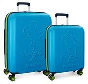 Disney Βαλίτσα μεσαίο μέγεθος trolley 68x27x48cm Mickey Colored Blue