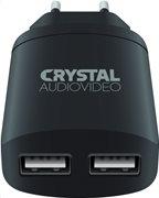 Crystal Audio Φορτιστής Dual USB 2.4A P2-2.4