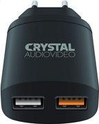 Crystal Audio Φορτιστής Dual USB QP2-3