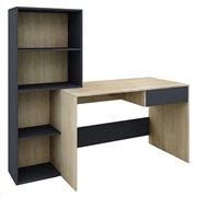 Γραφείο & Βιβλιοθήκη Twingo Μελαμίνη Sonoma/Ανθρακι 160X60XΗ145 cm
