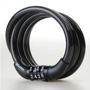 MasterLock Συρματόσχοινο ποδηλάτου με συνδυασμό 1.2m Φ8mm μαύρο