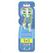 Oral-B Complete 5 Way Clean Χειροκίνητη Οδοντόβουρτσα 40 Μέτρια 2 τεμ-81594603