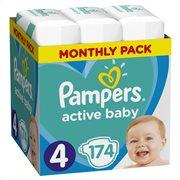 Pampers Active Baby Πάνες Μέγεθος 4 (9-14 kg), 174 Πάνες-81678671