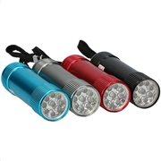 Grundig Φακός από Αλουμίνιο με 9 LED (τυχαία επιλογή χρώματος)